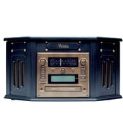 PAPRIKA Victoria Tunewriter IV CD Recordable Turntable, Cassette & CD/DVD Player, AM FM, AUX RCA L/R-out, AUX Line-in & Remote