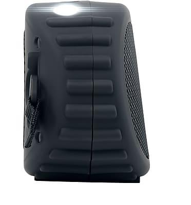 Black ECOCARBON Bluetooth waterproof speaker /w speaker phone & 120 Lumen LED light 16W speakers 3