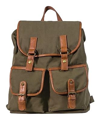 Staples Canvas Rucksack Backpack, Brown (51041)