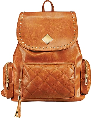 Staples Brown Rucksack Backpack with Studs (51039)