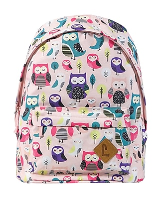 "Staples Kid's 16"" Owls Pattern Backpack (51032)"
