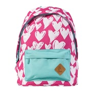 "Staples Kid's 16"" Hearts Pattern Backpack (51030)"