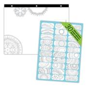 "Blueline®, Undated DoodlePlan™ Notes, Coloring Desk Pad-30 Sheets, Mandala, 11"" x 8.5"""