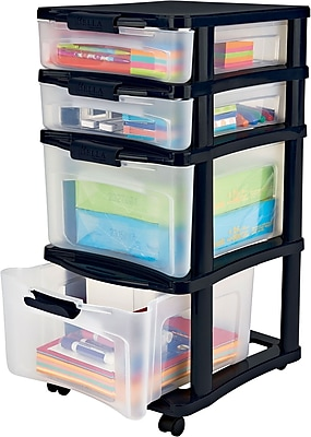 Bella Storage Solution® Medium Plastic Storage Drawer Cart, 4 Drawer