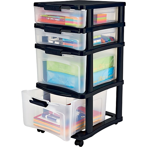 c3f60ac83bd Staples Bella Medium Plastic Storage Drawer Cart, 4 Drawer (28773)   Staples