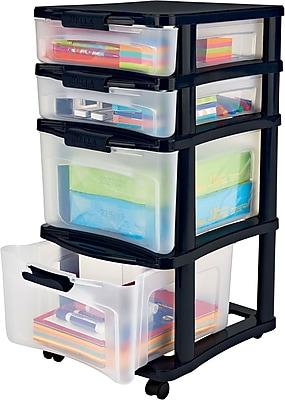 //.staples-3p.com/s7/is/  sc 1 st  Staples & Staples/Bella Medium Plastic Storage Drawer Cart 4 Drawer (28773 ...