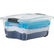 Staples 71 Quart Plastic Locking Lid Container