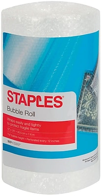 "3/16"" Staples Bubble Roll, 12""x25', Roll (27161)"