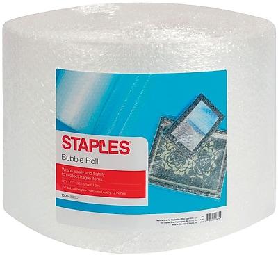 """Staples 3/16"""" Bubble Roll, 12"""" x 175' (27169-US/CC)"""