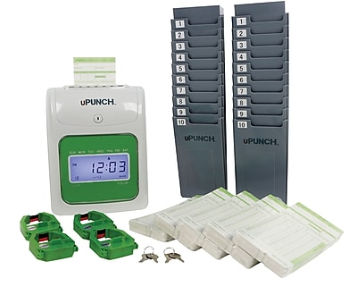 UB1000 uPunch™ Electronic Auto-Align Punch Card Time Clock Bundle