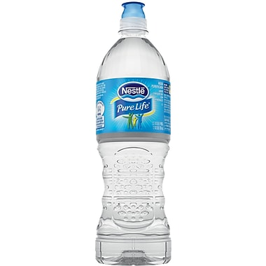 Nestle Pure Life Purified Water, 23.7-ounce Plastic Sport Cap Bottle, 24/Case