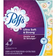 Puffs Cube Ultra 2 Ply Facial Tissues, 4 Cubes, 56 Tissues/Cube
