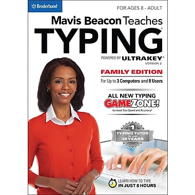 Encore Mavis Beacon Teaches Typing Powered by Ultrakey v2 - Family Edition (PC) for Windows (1-8 Users) [Download]