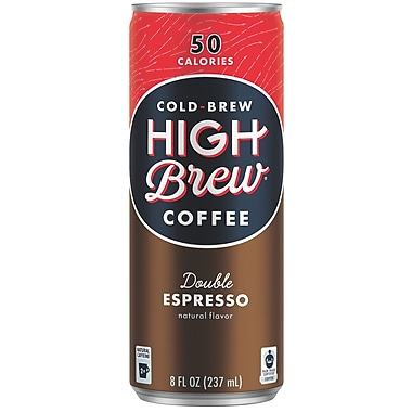 High Brew Coffee, Double Expresso, 8 Oz., 12/PK