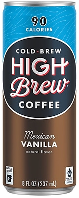 High Brew Coffee Cold Brew, Mexican Vanilla, 8oz. 12/Pack