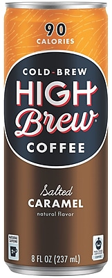 High Brew Coffee Cold Brew, Salted Caramel, 8oz. 12/Pack