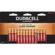 Duracell Quantum AAA Alkaline Batteries, 20 Pack (QU AL AAA20B2W)