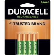 Duracell® Rechargeable NiMH AAA Batteries, Long-Life ionCore™, 4 Pack (DX2400B4N001)
