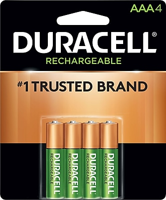 Duracell® Rechargeable AAA, 4/Pack