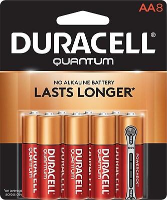Duracell® Quantum® AA Alkaline Batteries, 8/Pack