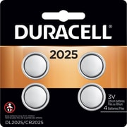 Duracell DL2025 Lithium Battery, 3V, 4/Pack (DL 2025B4PK05)