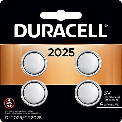 Duracell DL2025 Lithium Battery, 3V, 4/Pack (DL 2025B4PK05)