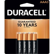 Duracell® Coppertop® AAA Alkaline Batteries, 8/Pack