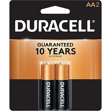 Duracell® Coppertop® AA Alkaline Batteries, 2/Pack