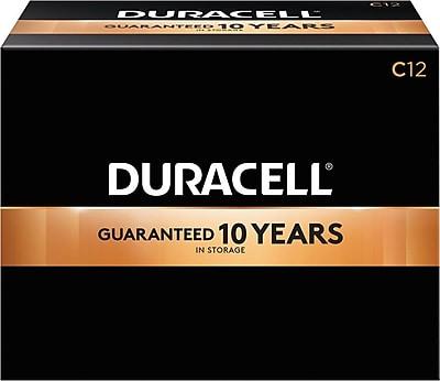 Duracell® Coppertop® C Alkaline Batteries, 72/Pack
