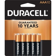 Duracell CopperTop Alkaline AAA Batteries, 1.5 V, 10/Pack (MN2400B10Z)