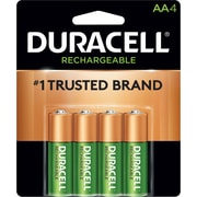 Duracell® Rechargeable NiMH AA Batteries, Long-Life ionCore™, 4 Pack (DX1500B4N001)