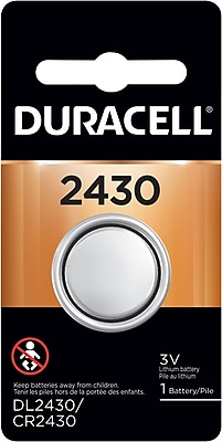 Duracell® 2430 Lithium Battery, 1/Pack