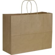 "Kraft Paper 12 1/2""H x 16""W x 6 ""D Vogue Shopper Bags, Brown, 250/Pack"