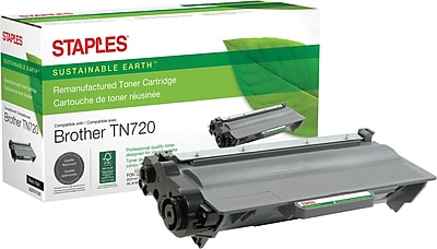 Staples® Remanufactured Black Toner Cartridge, Brother TN-720, (SEBTN720R)