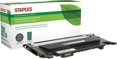 Staples® Remanufactured Color Laser Toner Cartridge, Samsung CLP-320 (CLT-K407S), Black