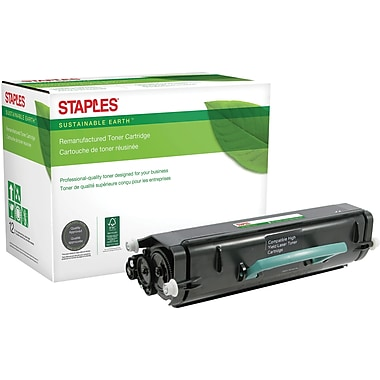 Sustainable Earth by Staples Remanufactured Black Toner Cartridge, Lexmark X264