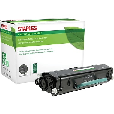 Sustainable Earth by Staples Remanufactured Black Toner Cartridge, Lexmark E460