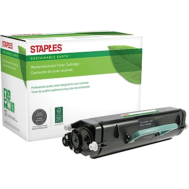 Sustainable Earth by Staples Remanufactured Black Toner Cartridge, Lexmark E360
