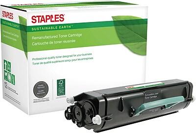 Staples® Remanufactured Black Toner Cartridge, Lexmark E360
