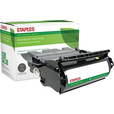 Sustainable Earth by Staples Remanufactured Black Toner Cartridge, Lexmark T630 (12A7362, 12A7460, 12A7462)
