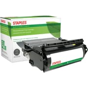 Staples® Remanufactured Toner Cartridge, Lexmark Optra T (12A5845/12A5840/12A5849/12A5745), Black, High Yield