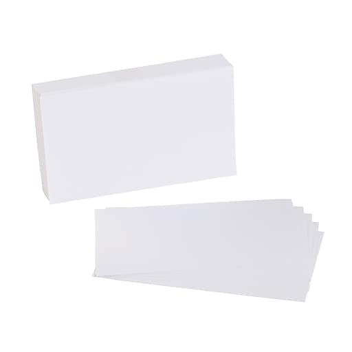 """Staples® 3"""" x 5""""  Blank White Index Cards, 100/Pack (51008)"""