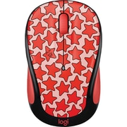 Logitech M325C Wireless Optical Mouse, Ambidextrous, Coral Stars (910-005029)