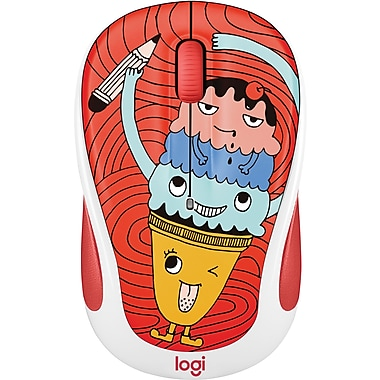 Logitech M325C Wireless Optical Mouse, Ambidextrous, Triple Scoop (910-005026)