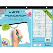 "Blueline®, Undated DoodlePlan™ Notes, Coloring Desk Pad-30 Sheets, Mandala, 11"" x 8.5"""