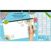 "Blueline®, Undated DoodlePlan™ Notes, Coloring Desk Pad-30 Sheets, Mandala, 17-3/4"" x 10-7/8"""