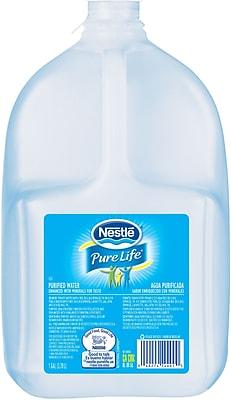Nestle Pure Life Spring Water, 1 gal Bottle, 6/Carton (12514)