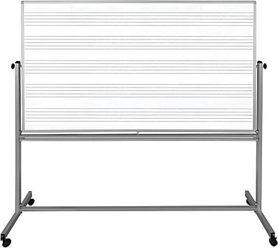 72x48 Mobile Double Sided Music Whiteboard