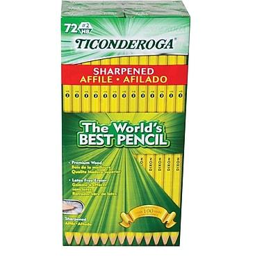 Ticonderoga #2 Graphite Pencil, pre-sharpened, 72 ct (13972)
