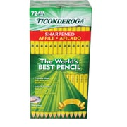 Ticonderoga #2 Graphite Pencil, pre-sharpened, 72 ct (13972)